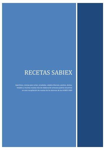 RECETAS SABIEX