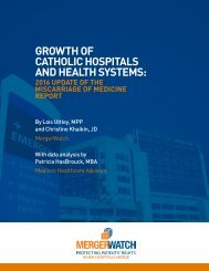 CATHOLIC HOSPITALS AND HEALTH SYSTEMS