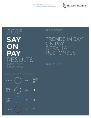 THIS REPORT CAN BE ACCESSED AT HTTP://WWW.SEMLERBROSSY.COM/SAYONPAY