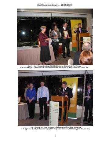 Victoria Branch Education Awards Photos 2009
