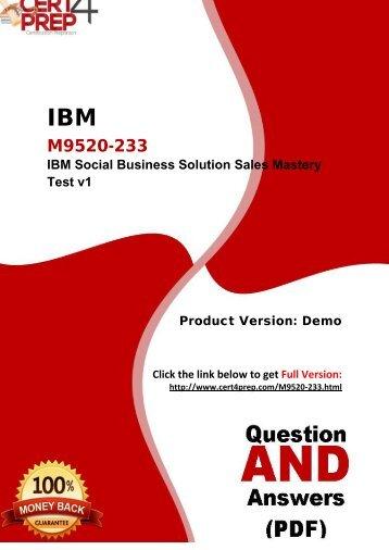 Cert4Prep M9520-233 Certification Test PDF Questions