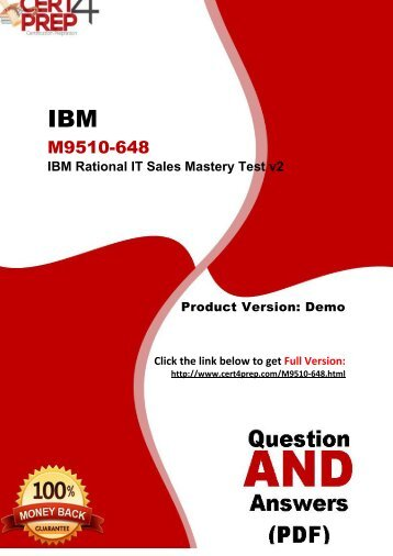 Cert4Prep M9510-648 Certification Test PDF Questions