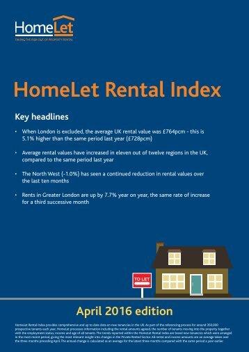 HomeLet Rental Index