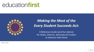 Making the Most of the Every Student Succeeds Act