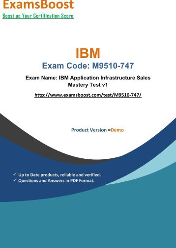 ExamsBoost M9510-747 Latest Exam Brain Dumps