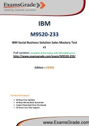 ExamsGrade M9520-233 Practice Questions With Answers Kits