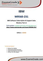ExamsGrade M9560-231 Practice Questions With Answers Kits