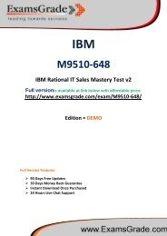 ExamsGrade M9510-648 Practice Questions With Answers Kits