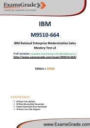ExamsGrade M9510-664 Practice Questions With Answers Kits