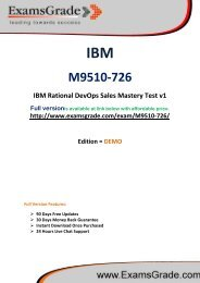 ExamsGrade M9510-726 Practice Questions With Answers Kits