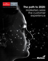 The path to 2020 Marketers seize the customer experience
