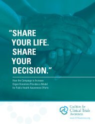 SHARE YOUR DECISION.""