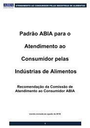 Padrão ABIA -Atendimento Consumidor