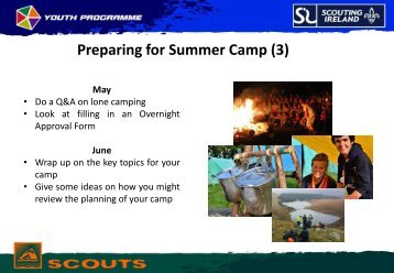 Preparing for Summer Camp (3)