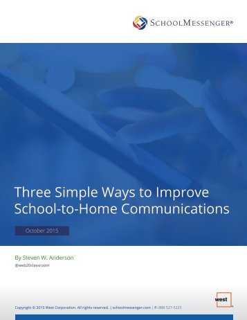 Three Simple Ways to Improve School-to-Home Communications