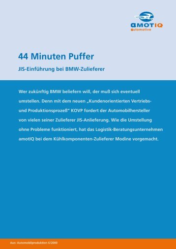 44 Minuten Puffer - amotIQ automotive GmbH