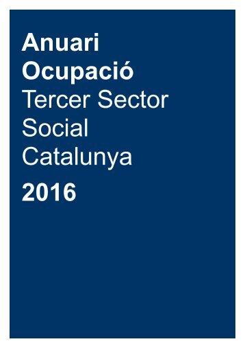 Anuari Ocupació Tercer Sector Social Catalunya 2016