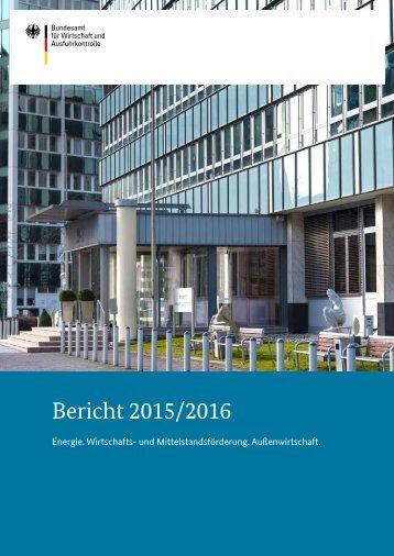 Bericht 2015/2016