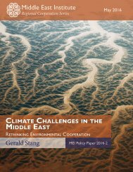 Climate Challenges in the Middle East