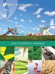 Download SSI's Brochure (1.25MB) - Select Supplements, Inc.