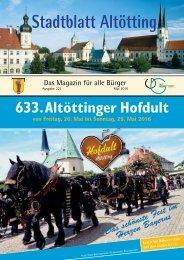 Stadtblatt Altötting - Ausgabe Mai 2016