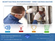 Security Electrical Solutions in Dorset - Dorset Electrical Solutions