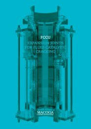 EXPANSION JOINTS FOR FLUID CATALYTIC CRACKING