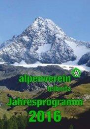 ÖAV Leibnitz - Jahresprogramm 2016