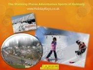 The Stunning Places Adventurous Sports Of Gulmarg - HolidayKeys.co.uk