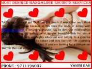 Most Desired Bangalore Escorts Services - Yamini Das