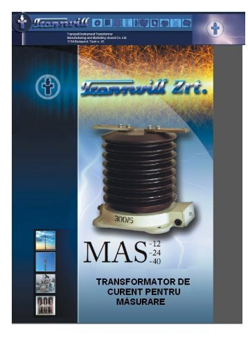 Transformatoare de masura curent exterioare tip MAS - Mondotrade