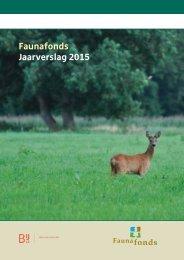 Faunafonds Jaarverslag 2015