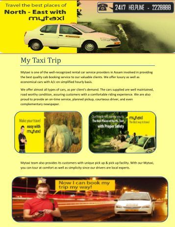 Best Taxi Fares In Assam