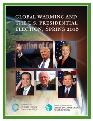 global warming and the u.s presidential election Spring 2016