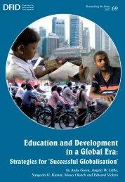 Education and Development in a Global Era: - CiteSeer