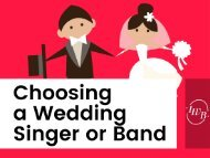 How to Choose a Wedding Singer