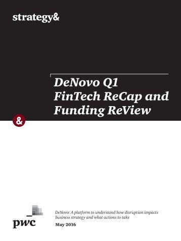 FinTech ReCap and Funding ReView