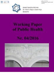 Working Paper of Public Health Nr 04/2016