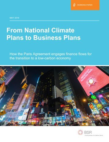 From National Climate Plans to Business Plans