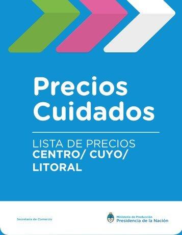 LISTA DE PRECIOS CENTRO/ CUYO/ LITORAL