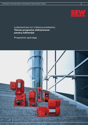 Gamybos programos apžvalga - IRSEVA