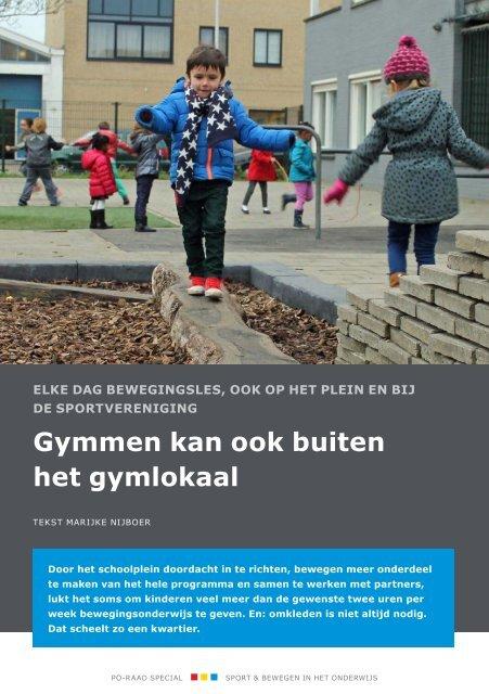 Gymmen kan ook buiten het gymlokaal
