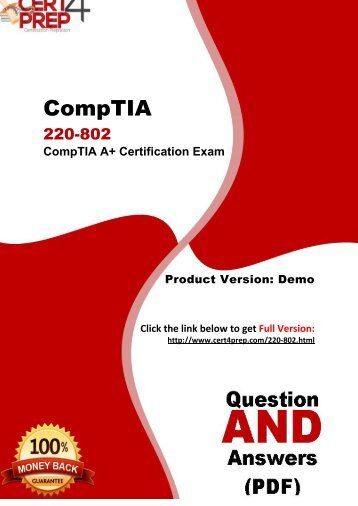 Cert4Prep 220-802 Certification Test PDF Questions