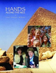 2005 annual report - Hands Along the Nile Development Services