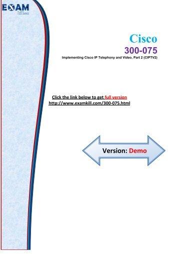 ExamKill 300-075 Exam Study Material