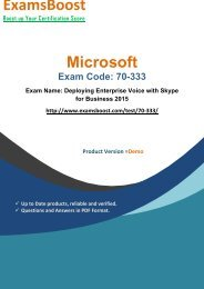 ExamsBoost 70-333 Certification Study Kits