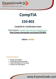 ExamsGrade 220-802 Exam PDF Study Kits