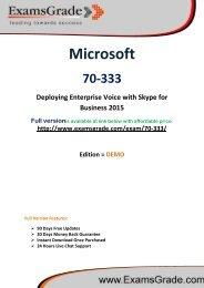 ExamsGrade 70-333 Exam PDF Study Kits