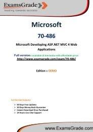 ExamsGrade 70-486 Exam PDF Study Kits
