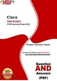 Cert4Prep 350-018v4 Real PDF Questions